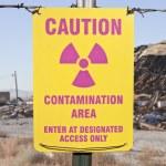 Caution Radioactive Contamination Area Sign — Stock Photo