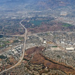 Pomona, Diamond Bar and San Dimas California Aerial — Stock Photo