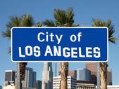 Město los angeles znamení — Stock fotografie