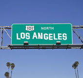 101 Los Angeles Freeway Sign — Stock Photo