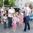 GERMANY. Baden-Baden. June 16, 2012, the Feast of the urban area. The children are preparing to open a celebration of urban area - Stock Photo