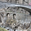 Devil's bridge at St. Gotthard pass, Switzerland. Alps. Europe - Stock Photo