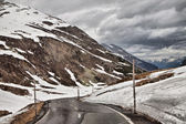 The road to the Alps in the rain. — Stock Photo