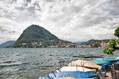 Lago de lugano. suíça. europa. — Foto Stock
