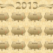 2013 calendar year in vintage style — Stock Vector #11538983