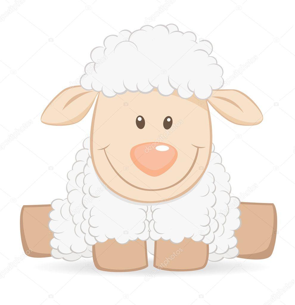 Dessin anim b b mouton image vectorielle teneresa - Mouton dessin anime ...