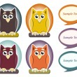 Royalty-Free Stock Vector Image: Cartoon owl with speech bubble