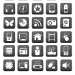 Web icons and multimedia buttons set — Stock Vector