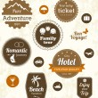 Retro travel labels — Stock Vector