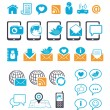 Communication icons for mobile email chat — Stock Vector