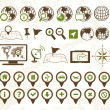 Location icons military style - Stockvektor