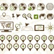 Location icons military style - Stock vektor