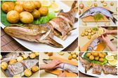Fresh pike preparation — Stock Photo