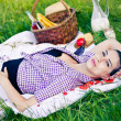 Young woman during the picnic — Stock Photo #11492832
