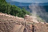 採石場で大きなトラック — ストック写真