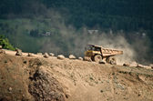 Big truck in quarry — Stock Photo