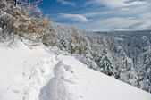 Hills covered by snow — Stock Photo