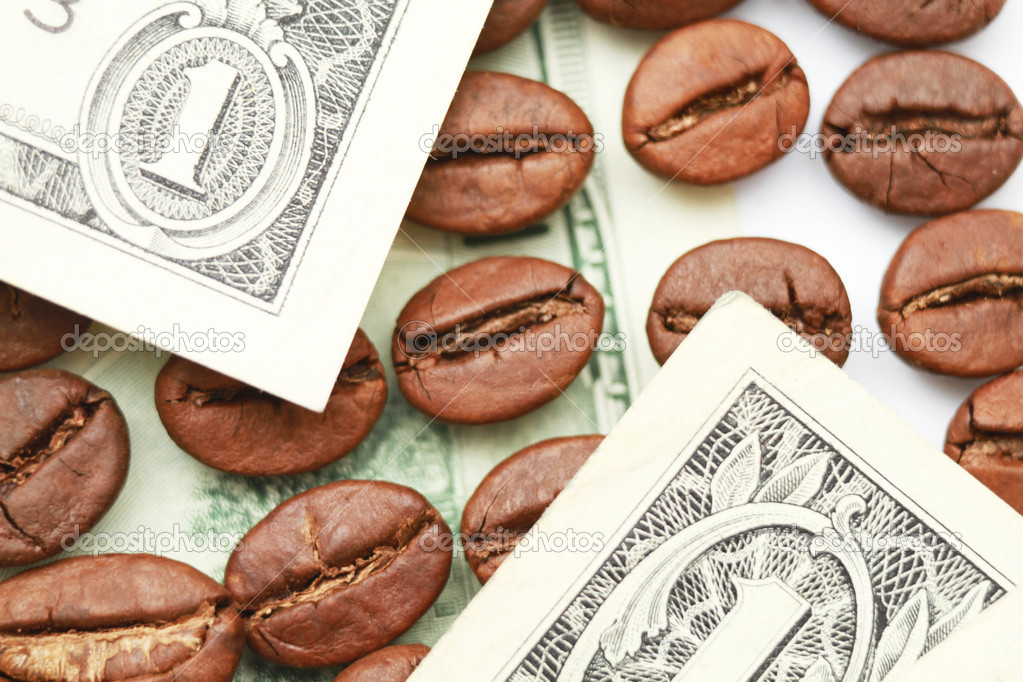 Coffee against dollar — Stock Photo #10760426