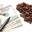 Coffee and Dolar 100 — Stock Photo