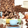 Coffee collage of cups, beans and other details — Stock Photo #10797653