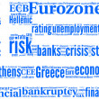 Tagcloud Flag of Greece — Stock Photo
