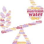 Food balance tagcloud illustration — Stock Photo