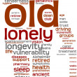 Old person pictogram tagcloud — Foto Stock