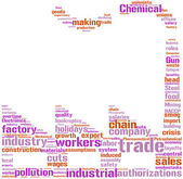 Factory tagcloud — Stock Photo