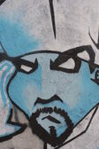 Grafiti portre — Stok fotoğraf