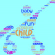 Stroller pictogram tag cloud — Stock Photo #10948002