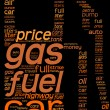 Stock Photo: Fuel station pictogram tag cloud