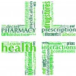 Stock Photo: Pharmacy symbol tag cloud