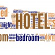 Stock Photo: Hotel pictogram tagcloud