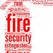 Fire extinguisher tag cloud - Stock Photo
