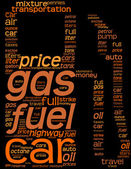 Fuel station pictogram tag cloud — Stock Photo