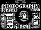 Camera symbol tag cloud — Foto Stock