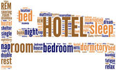 Hotel pictogram tagcloud — Stock Photo