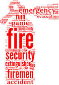 Fire extinguisher tag cloud — Foto Stock