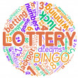Lottery concept round tag cloud - Stock Photo