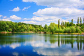 Landscape with a lake — Stock Photo