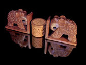 Elephants and casket — Stock Photo