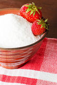 Strawberries in canning sugar — Stock Photo