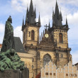 View of the Tyn Church of Our Lady ,Prague — Stock Photo