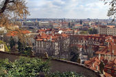 View of the roof of the old Prague — Stock Photo
