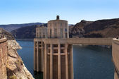 Lake (reservoir), Mead and Hoover Dam — Stock Photo