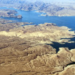 Stock Photo: Aerial view of Colorado River and Lake Mead