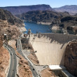 Aerial view of Hoover Dam ,Colorado River — Stock Photo