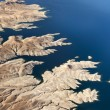 Aerial view of the Colorado River and Lake Mead — Stock Photo