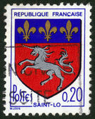 Coat of arms of Saint-lo in France — Stock Photo