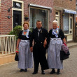 Inhabitants of Volendam, The Netherlands - Stock Photo